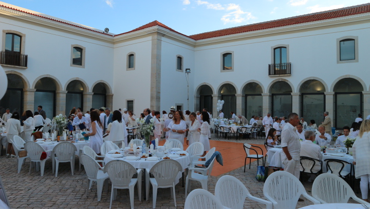 White Dinner at Escola de Hotelaria e Turismo, Faro.